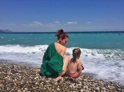 Юля и дочка